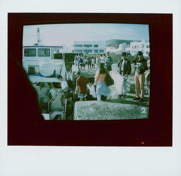 Magnolia Soto. Apuntes sobre el consumo de imágenes de paisaje 15. 2001. Polaroid. 8,8 X 10,7cm.
