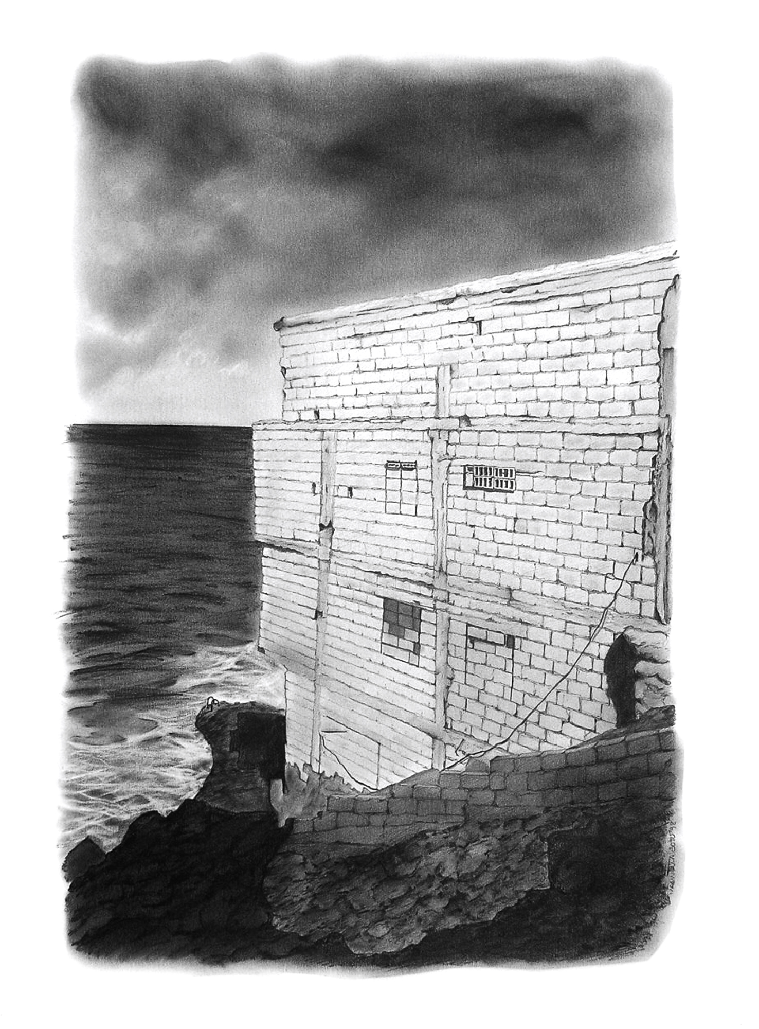 Magnolia Soto. Paisaje Canario 10. 1998. Grafito sobre papel. 50 x 37 cm.