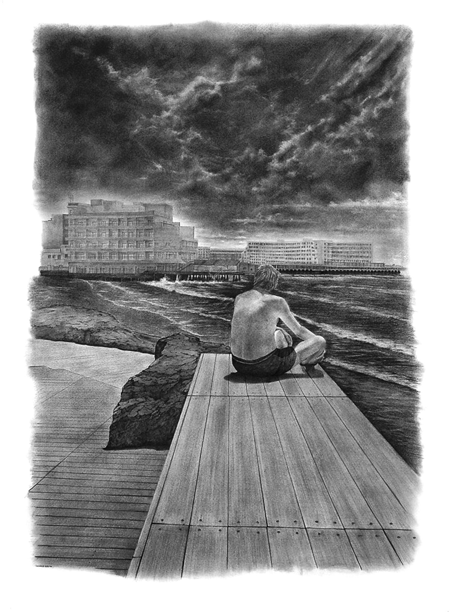 Magnolia Soto. Apuntes sobre identidad I. 1999. Grafito sobre papel. 100 x 75 cm.