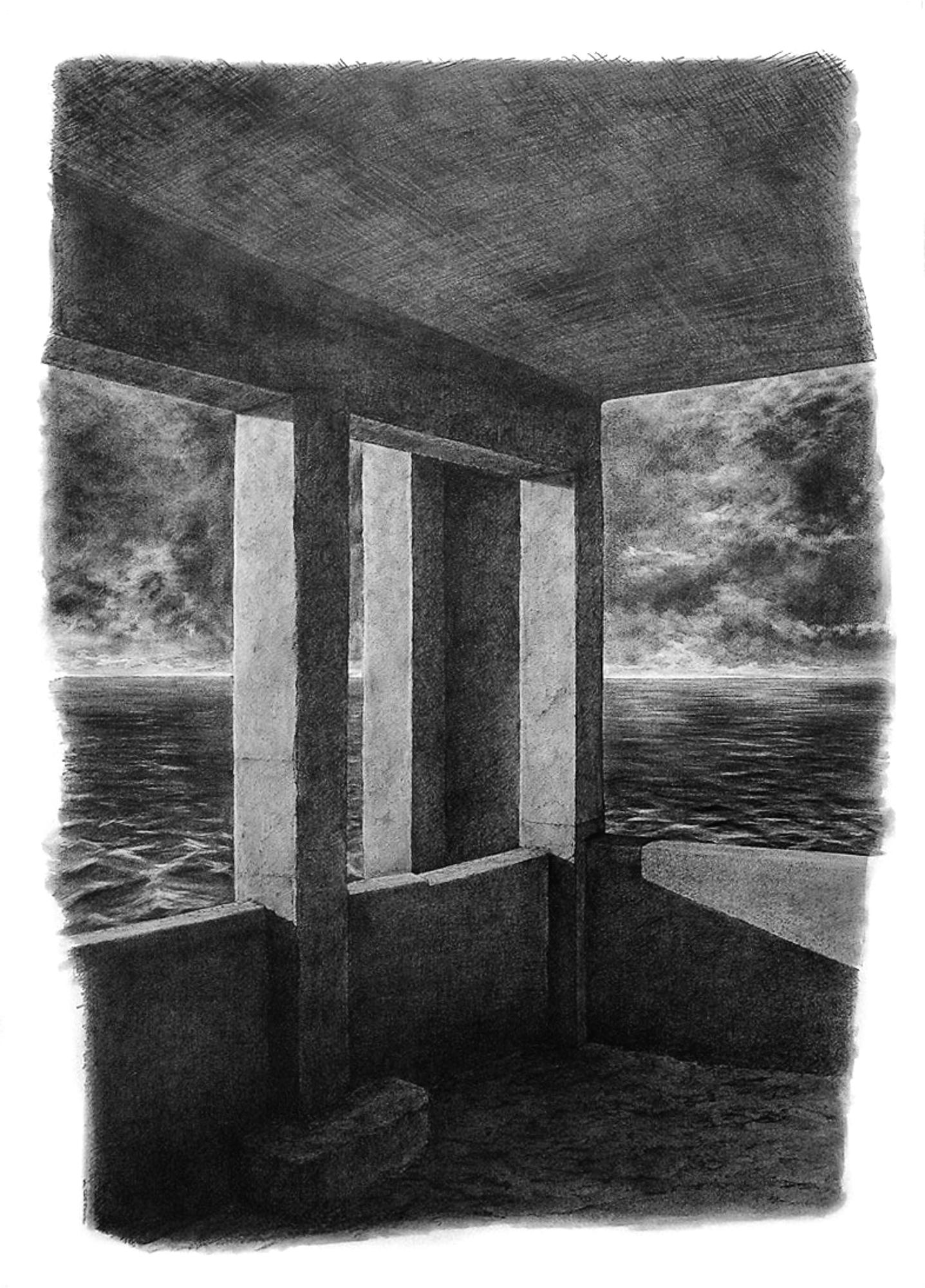 Magnolia Soto. Apuntes sobre identidad II. 1999. Grafito sobre papel. 100 x 75 cm.