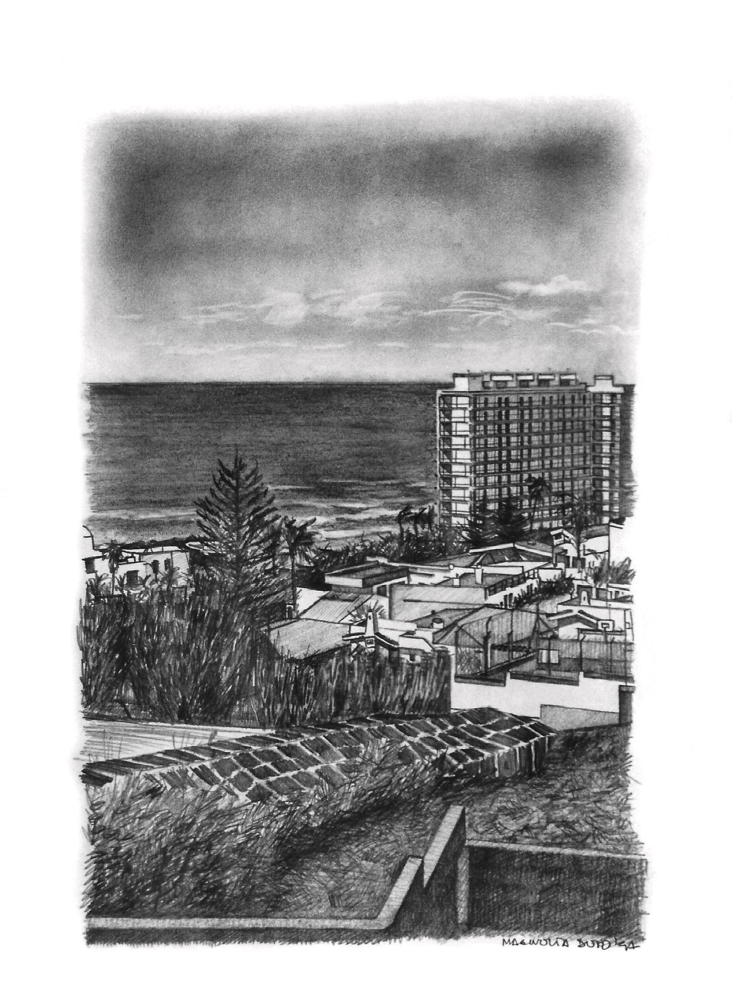 Magnolia Soto. Paisaje Canario 5. 1997. Grafito sobre papel. 37 x 27 cm.