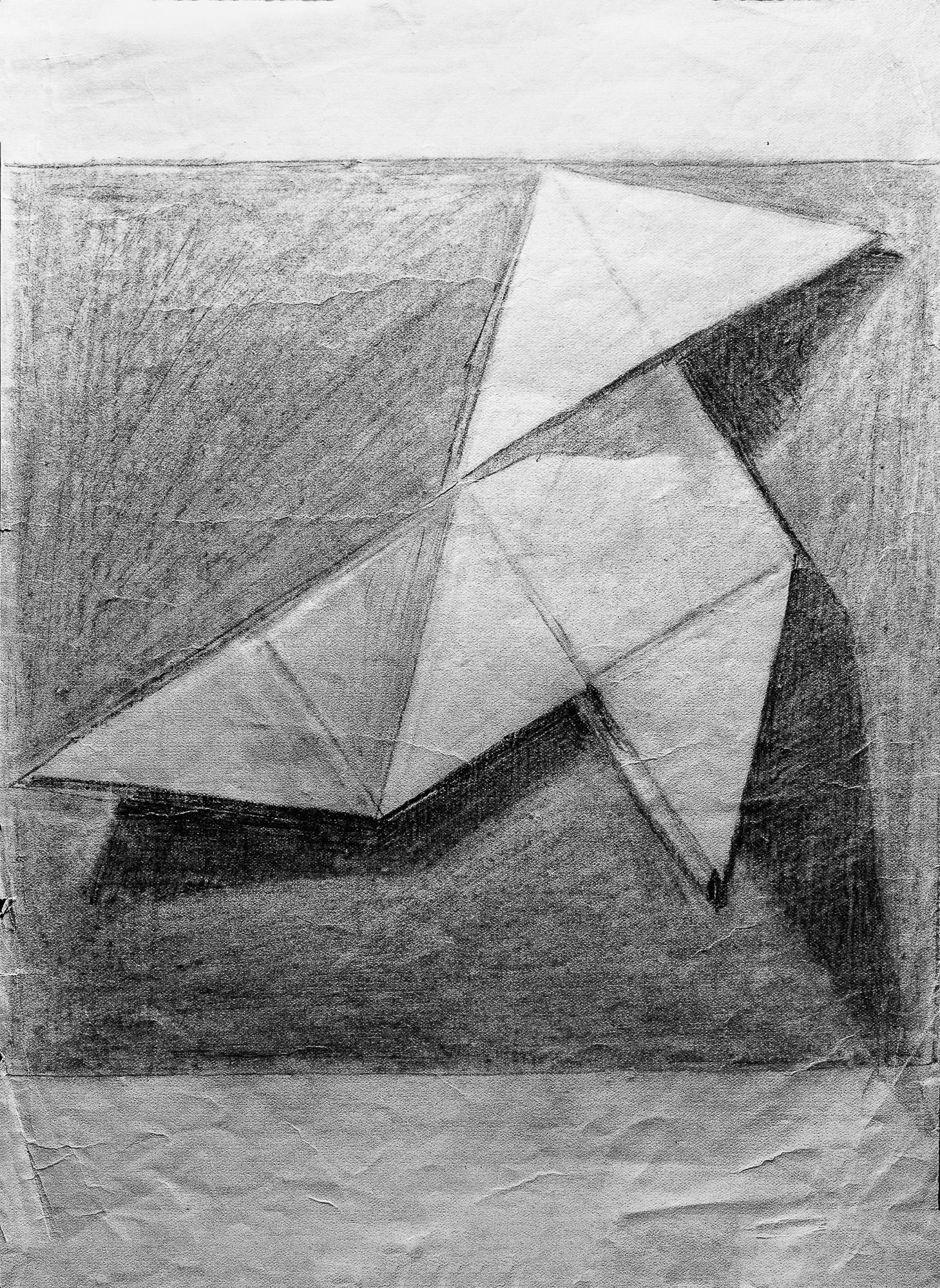 Juan Soto. Obra temprana 1946. Carboncillo sobre papel. 32 x 22 cm.