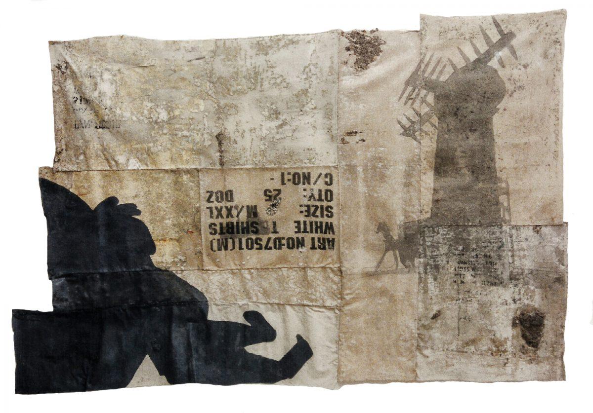 Magnolia Soto. Sin título. 1996. Técnica mixta. 130 x 205 cm.