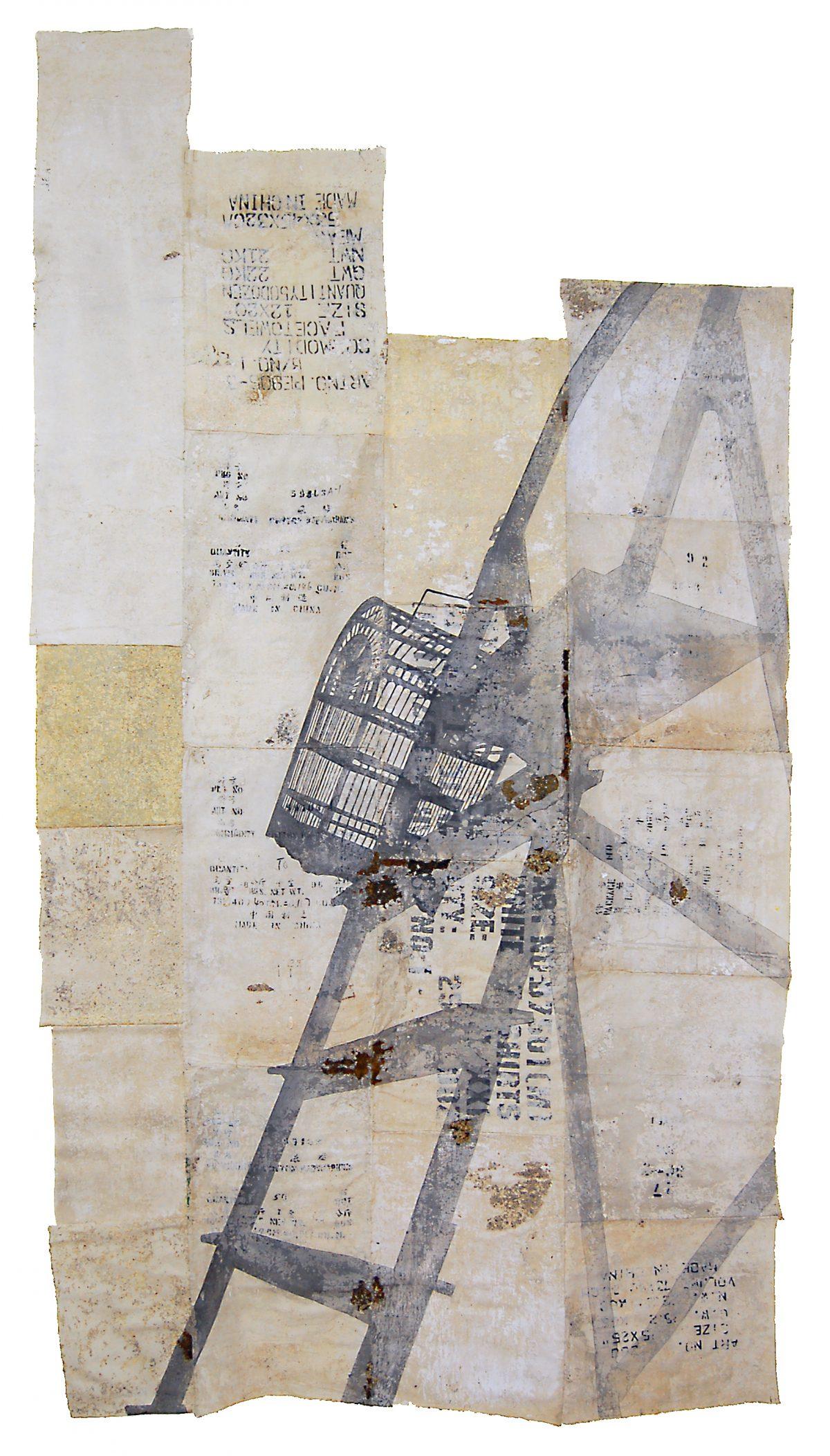 Magnolia Soto. Sin título. 1996. Técnica mixta. 146 x 270 cm.