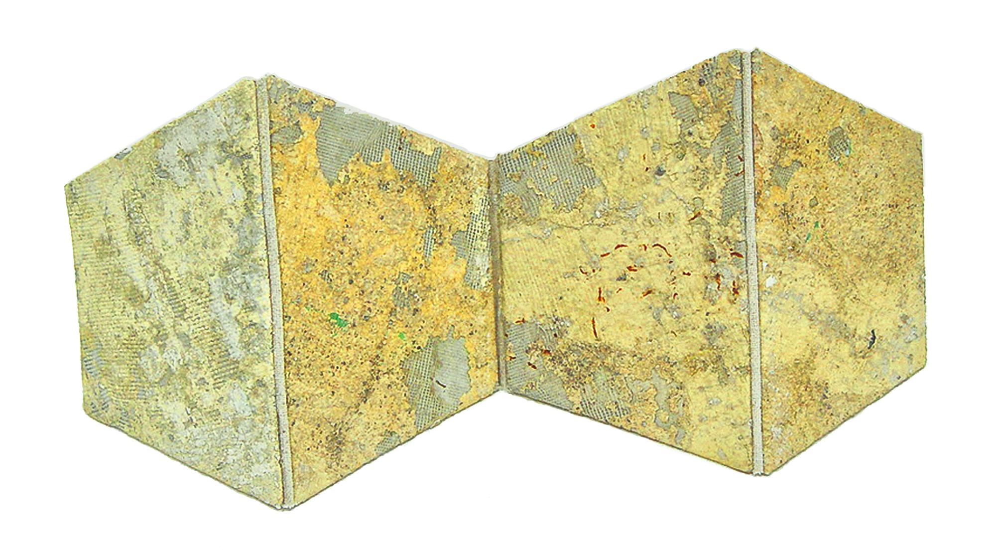 Magnolia Soto. Diorama. Topofilia interior. Técnica mixta. 18,5 cm. x 51.5 cm x 2cm. 1998.
